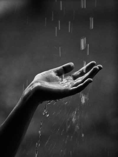 hand-in-rain